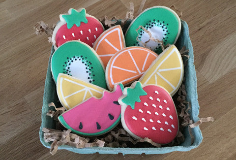 Assorted Fresh Fruits Cookies - Baking Fun - www.bakingfun.ca