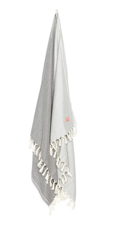 Luxurious hamam bath towel. Soft, absorbent, light weight, quick drying, aesthetically pleasing. Takes up little space. Ideal for bath, beach, travel, sports, yoga. Can also be used as a blanket or a scarf. Popular as a baby blanket.  OEKO-TEX®, eco-friendly certification. 100% quality cotton. Grey hammam towel