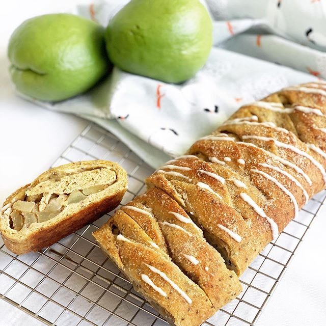 "Keto Friendly Chayote ""Apple"" Braided Bread"