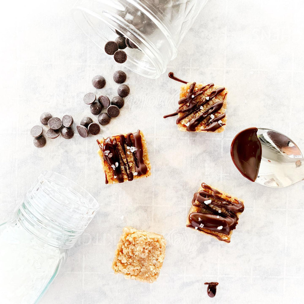 Mini Candy Peanut Butter and Chocolate Granola Squares