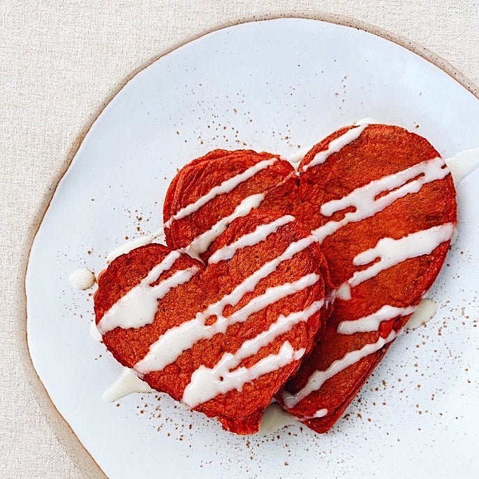 Make Heart-Shaped Red Velvet Pancakes for Your Keto Sweetie This Valentine's Day