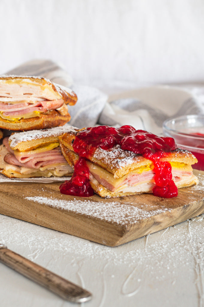 Low Carb Monte Cristo Sandwich With Waffle Bread Recipe