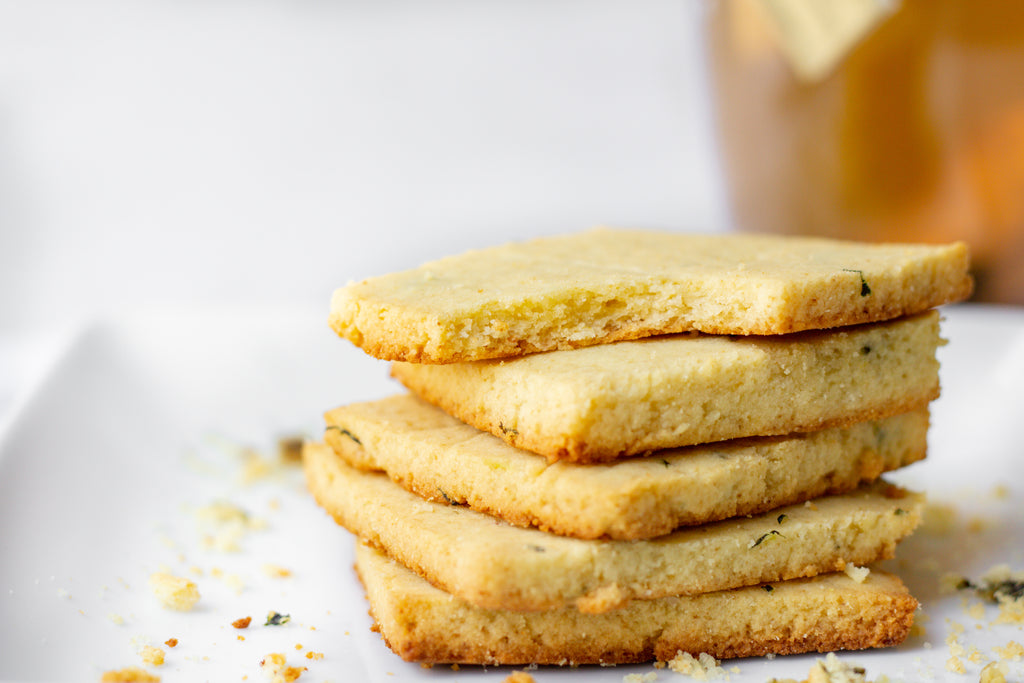 These Lemon Basil Shortbread Cookies Are Perfect For Summer