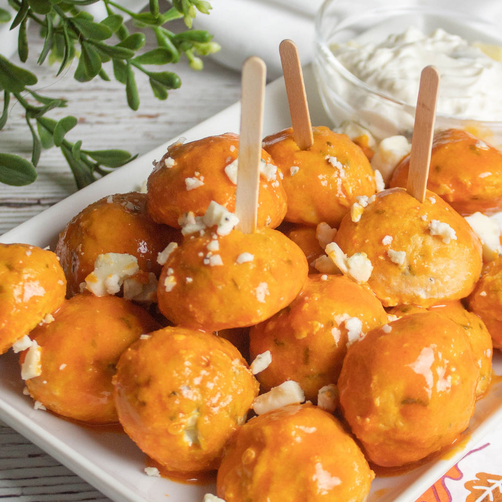 Keto Friendly Buffalo Chicken Meatball Appetizer