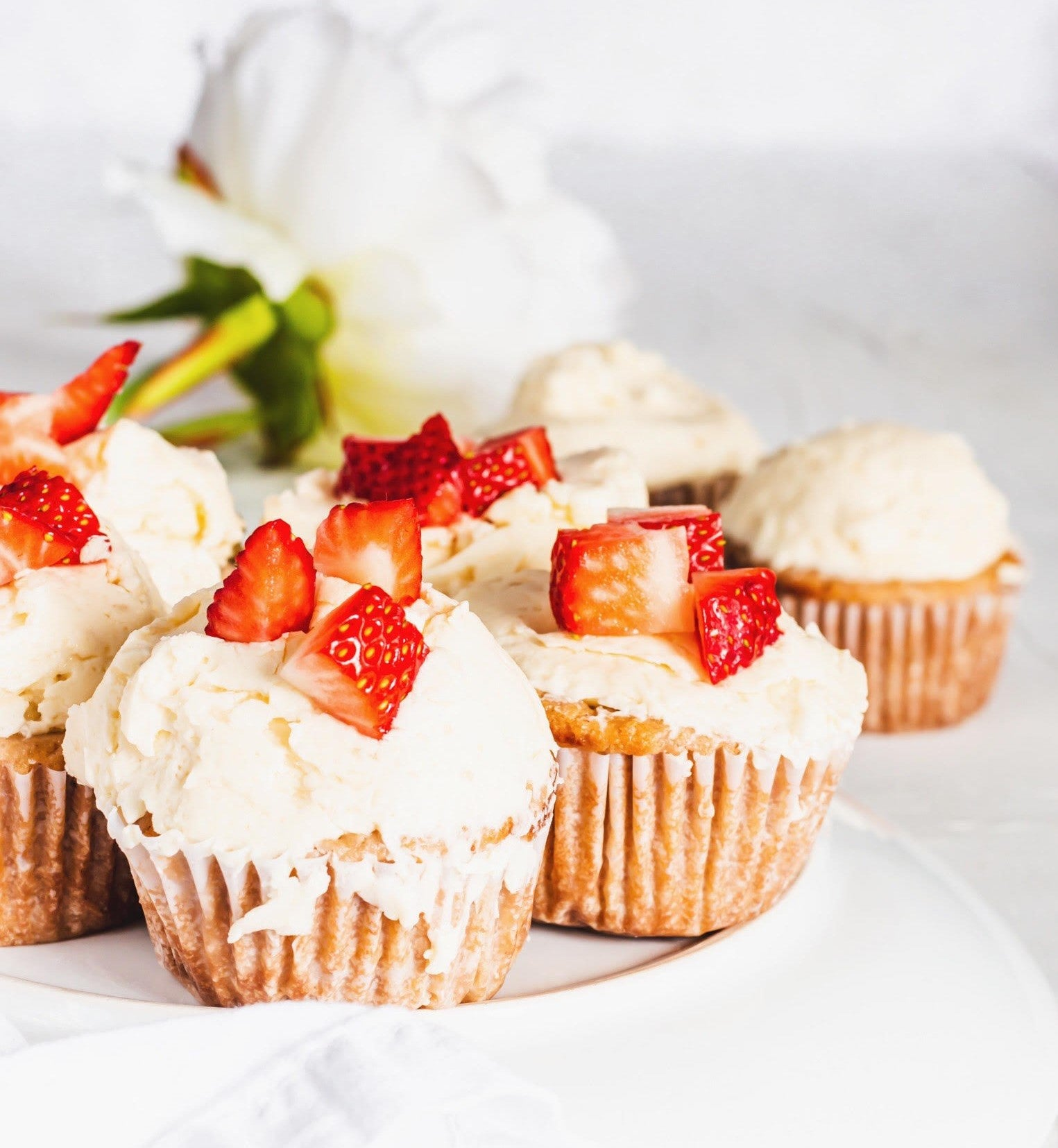 Cheers To These Strawberry Champagne Cupcakes