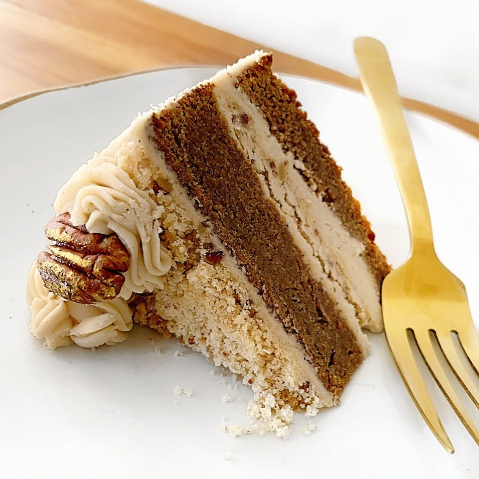 Easy Keto Pecan Cake With Low Carb Buttercream Frosting