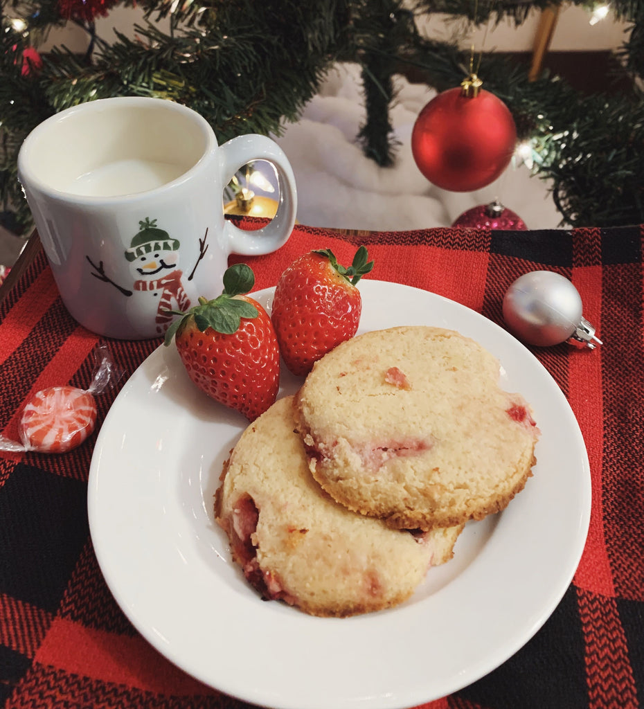 Keto Strawberry Shortbread Cookies