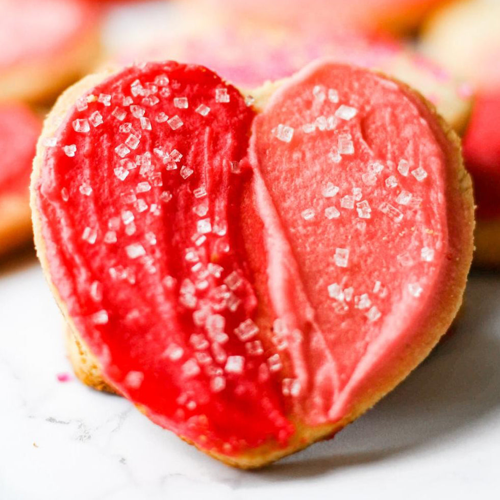 Keto Heart-Shaped Cookies Perfect For Valentine's Day