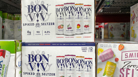 cases of hard seltzer