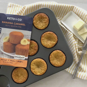 Load and play video in Gallery viewer, Keto Banana Caramel Muffin Mix