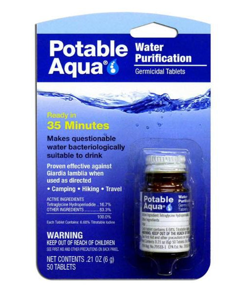Water Purification Tablets Survival Iodine Pills