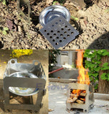 Outdoor Cooking Camping Folding Wood Stove -STOVES | TravDevil - 4