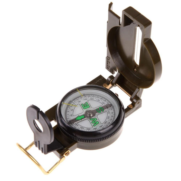 Army Green Folding Lens Compass -OPTICS | TravDevil - 1