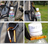 Outdoor climbing essential mineral water bottles hanging buckle with a small compass -OPTICS | TravDevil - 6