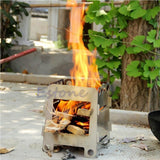 Outdoor Cooking Camping Folding Wood Stove -STOVES | TravDevil - 5