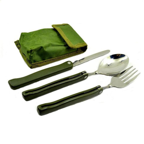 Spoon Knife Picnic Dinnerware Camping Set -COOKING ACCESSORIES | TravDevil - 1