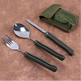 Spoon Knife Picnic Dinnerware Camping Set -COOKING ACCESSORIES | TravDevil - 4