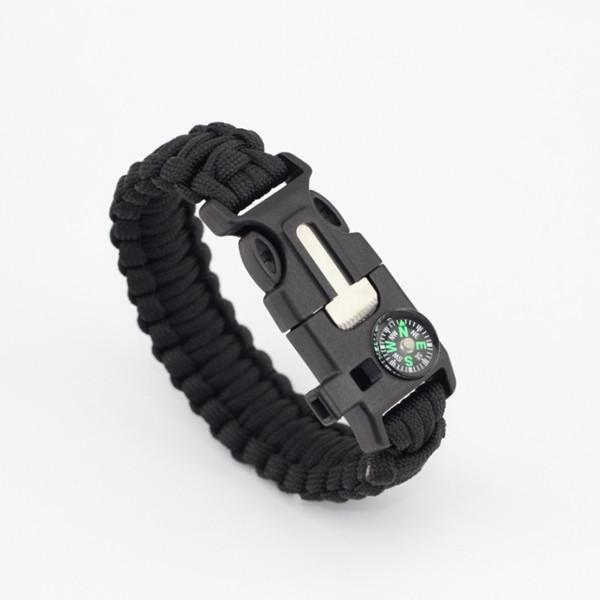 Men's Paracord Survival Bracelet Parachute Cord Wristband Emergency -TRAVEL KITS | TravDevil - 2