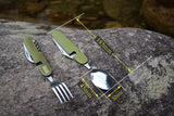 folding tableware set picnic spoon fork travel kit -COOKING ACCESSORIES | TravDevil - 7