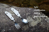 folding tableware set picnic spoon fork travel kit -COOKING ACCESSORIES | TravDevil - 2
