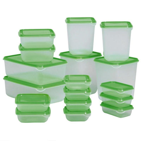 Plastic Food Storage Box 17pcs -FOOD STORAGE | TravDevil - 1