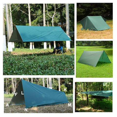3*3m 210T with silver coating -Sun Shelter | TravDevil - 1