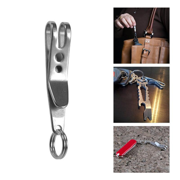 EDC Bag Suspension Clip with Key Ring Carabiner Stainless Steel -TRAVEL KITS | TravDevil - 1