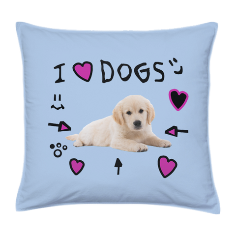 "I Love Dogs Pillowcase (16"")"