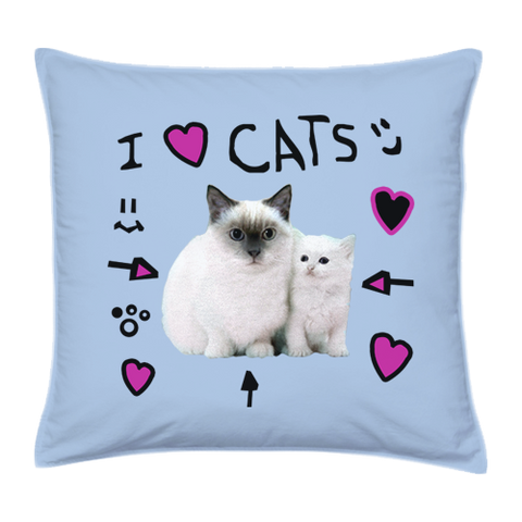 "I Love Cats Pillowcase (16"")"
