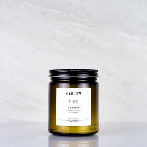 Morning Candle by Harlow Skin Co. Made in Vancouver, Canada