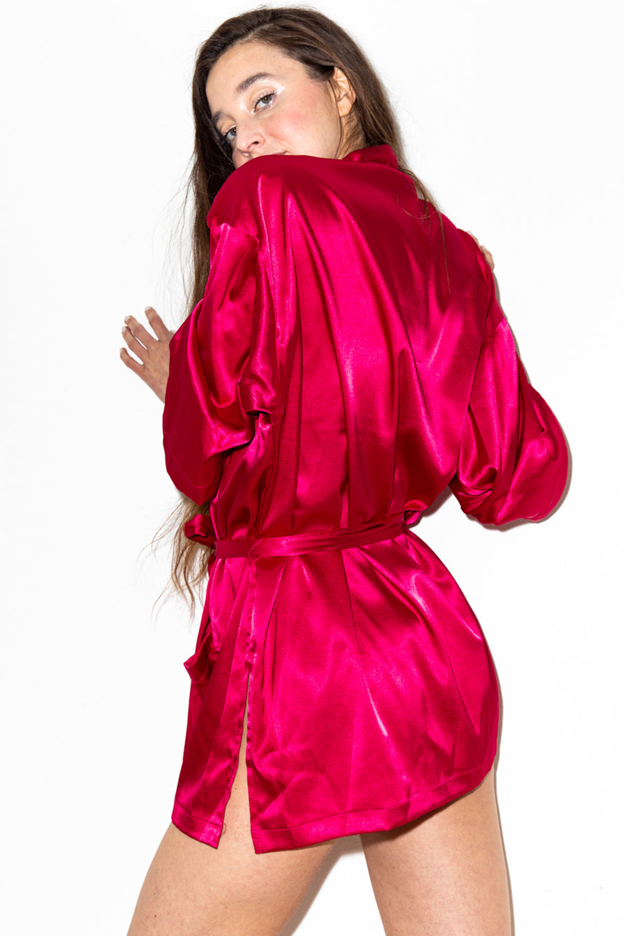 Gleamy Dreamy Satin Robe