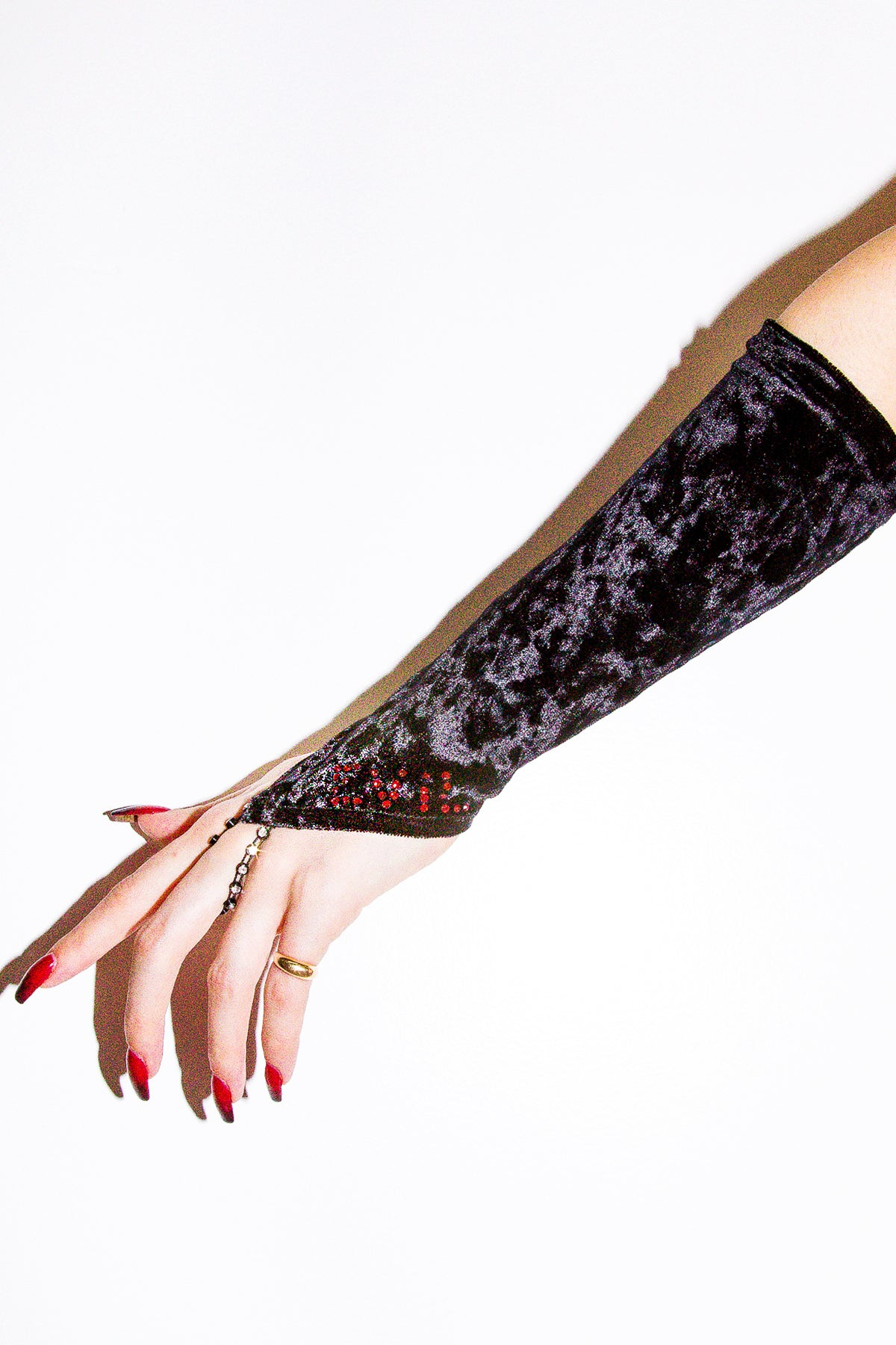 CU$TOM ☆Heavenly Glam Fingerless Glove☆