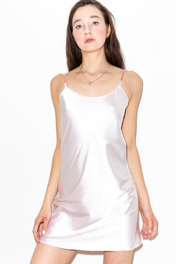 Gleamy Dreamy Satin Cami-Dress