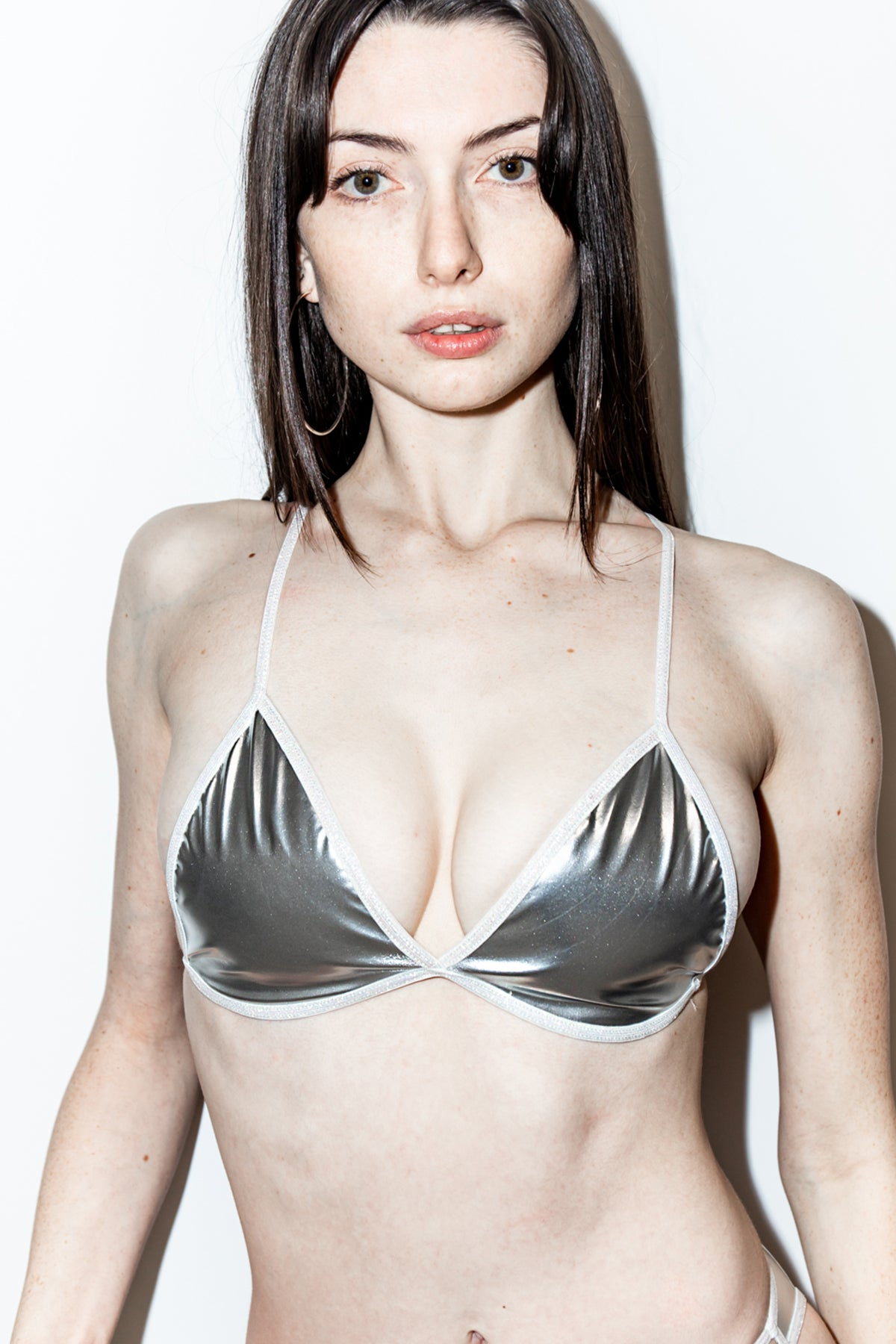 GLEAMY DREAMY PVC BRA TOP