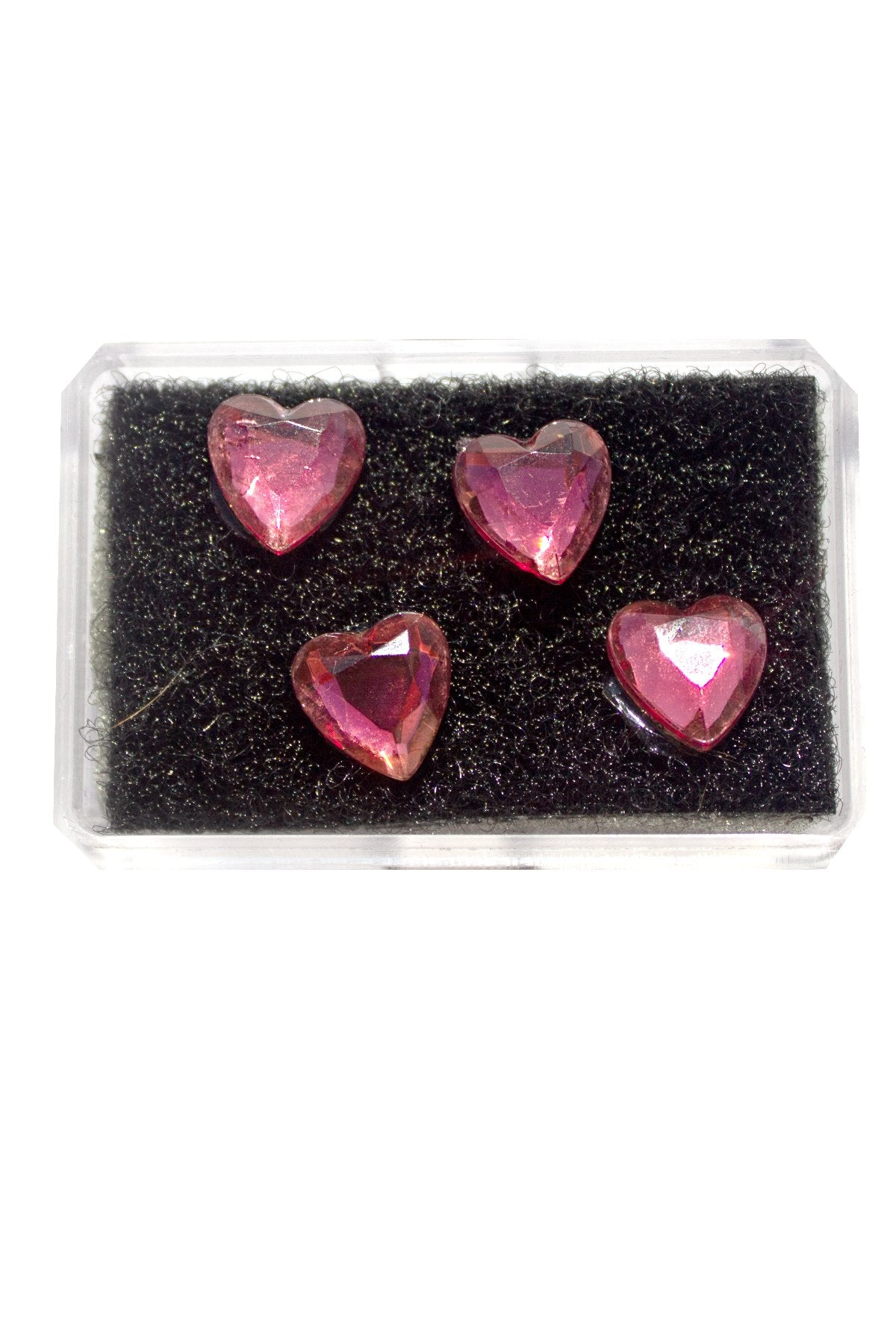 DARK PINK CRYSTAL HEART HAIR CANDY