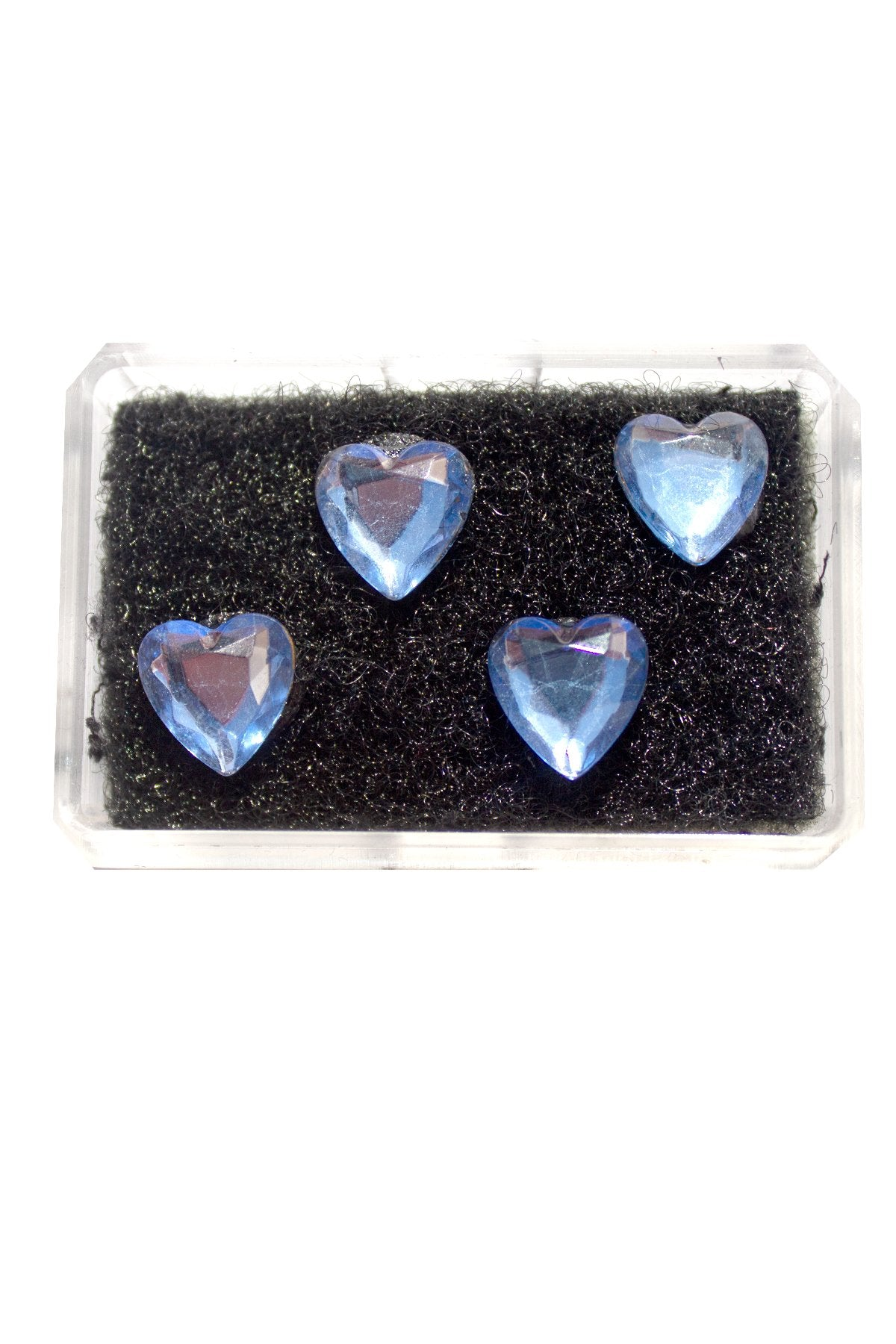 BLUE HEART CRYSTAL HAIR CANDY
