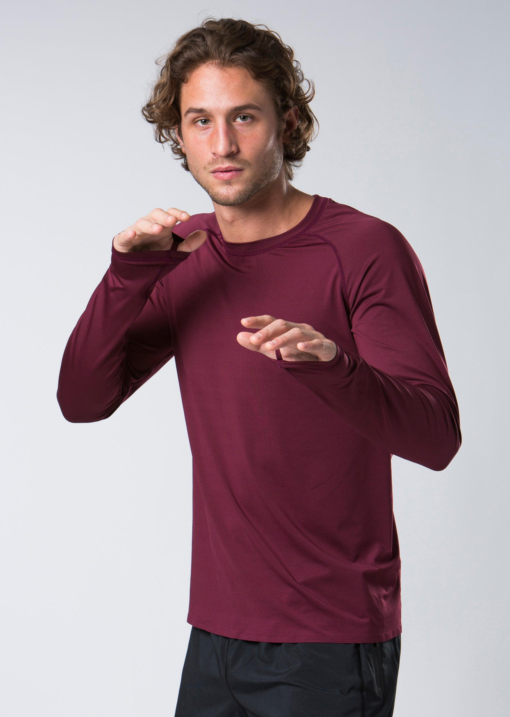 Ascent Long Sleeve Top - Burgundy