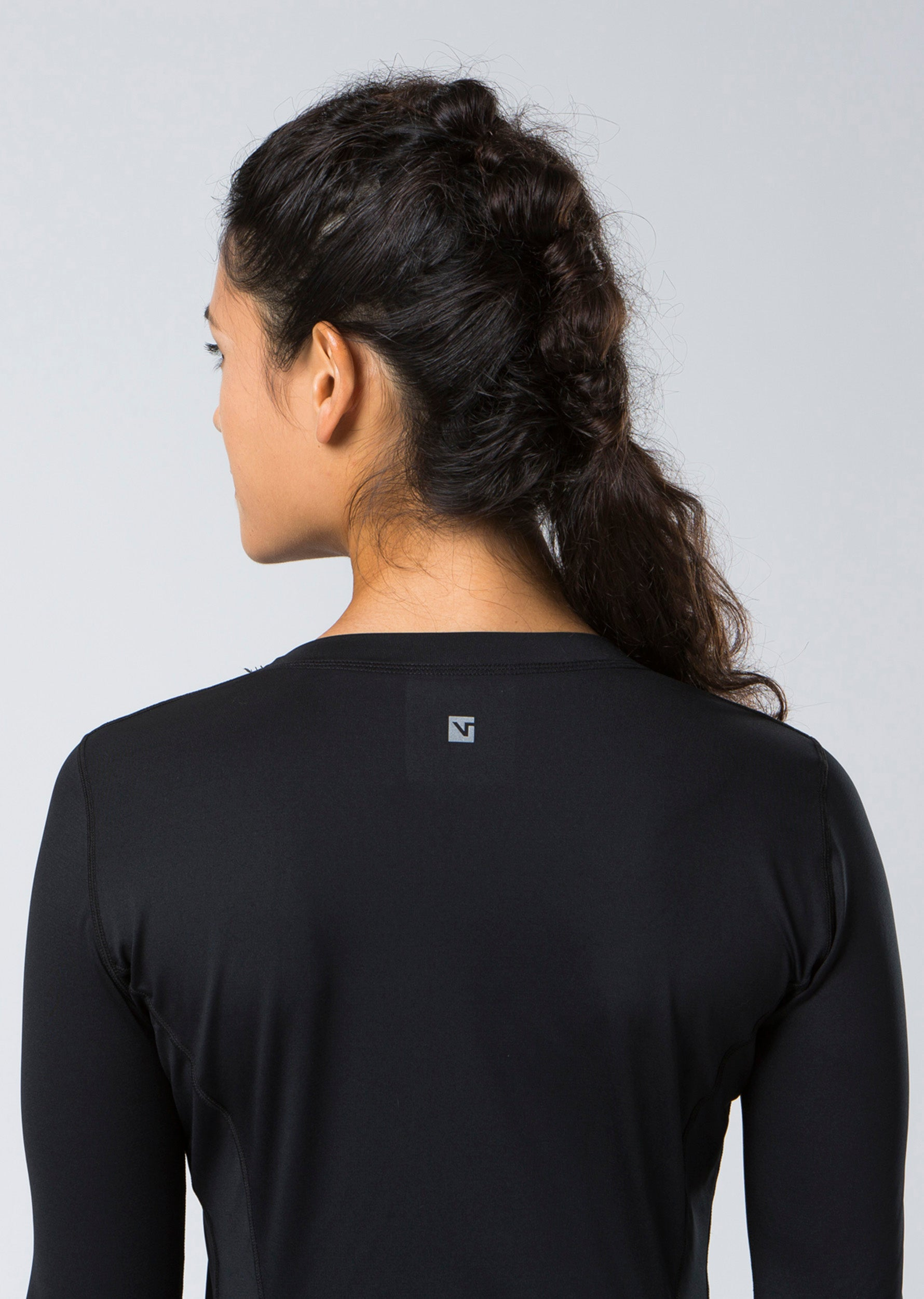 Via Long Sleeve Top - Black