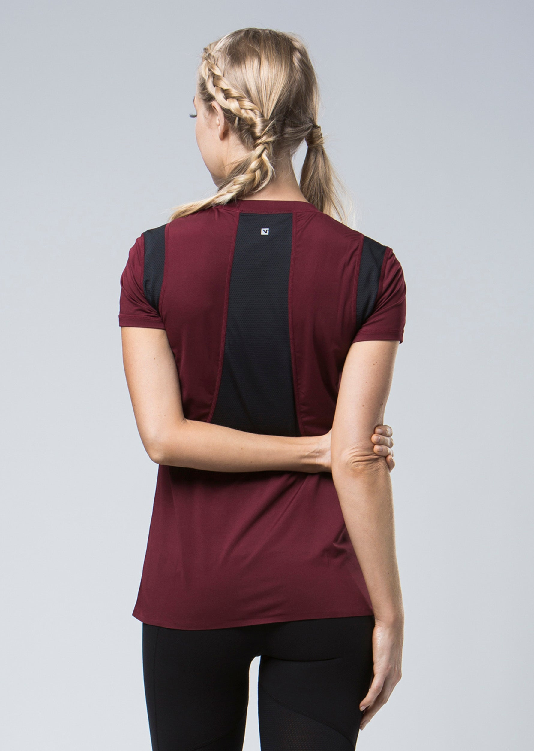 Infinity Technical Tee - Burgundy