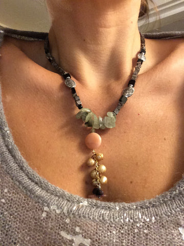 Natural forest necklace