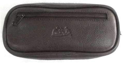 Pipe Tobacco Leather Pouch Combo - Authentic Full Grade Leather - Brown