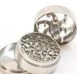 "Three Piece 2 1/2"" Herb, Spice, Tobacco, etc Grinder with Lever"