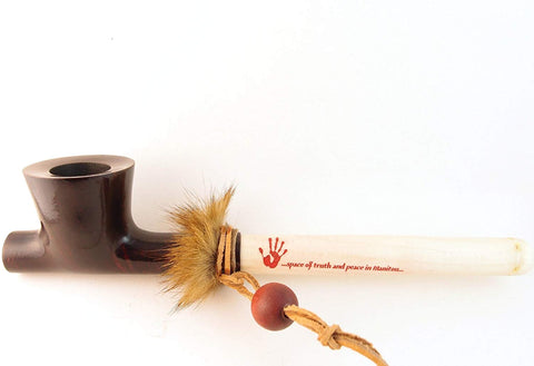 Lakota Mediterranean Briar Wood Indian Peace Pipe