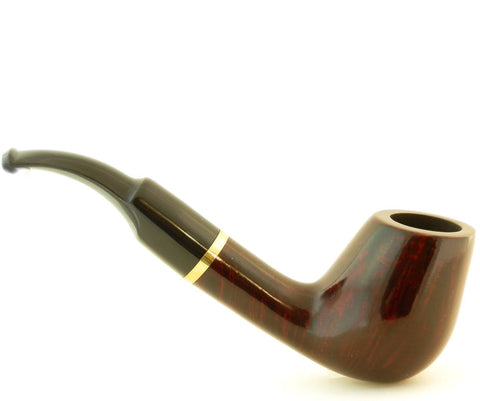 Mr. Brog Full Bent Tobacco Pipe - Model No: 67 Full Bent Mahogany - Mediterranean Briar Wood - Hand Made