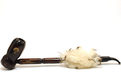Mr. Brog Churchwarden Tobacco Pipe - Model No:  Abbyssynian Walnut - Pear Wood Roots - Hand Made