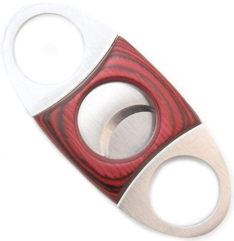 Mrs. Brog Guillotine Cigar Cutter - Mahogany Wood & Stainless Steel