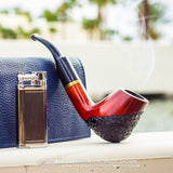 No. 67 Full Bent Mediterranean Briar Wood Smoking Pipe