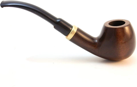 No. 18 Horn Pear Wood Tobacco Pipe