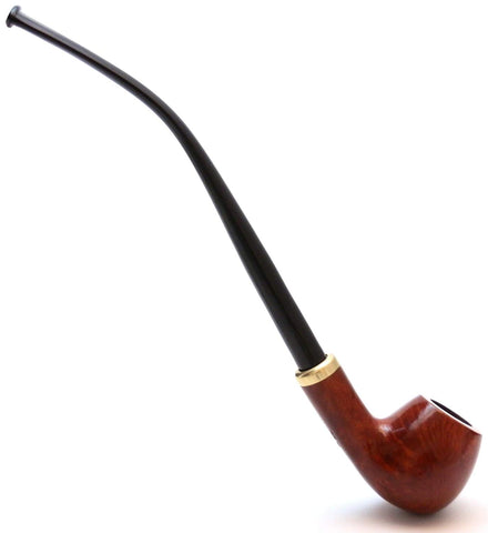 Mr. Brog Churchwarden Tobacco Pipe - Model No: 114 Constance - Mediterranean Briar Wood - Hand Made