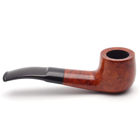 Mr. Brog Bulldog Tobacco Pipe - Model No: 98 Alfa Pecan - Mediterranean Briar Wood - Hand Made
